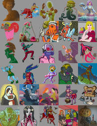 Monster Girl Challenge 2014 by Silvertide