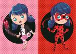 Chibis Marinette and Ladybug by PolarStar