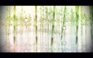 [MMDStage DL]Bamboo of the bridge with river/Huaan by Bananasteamedstuff