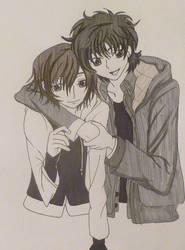 Lelouch and Suzaku by kittykatc666