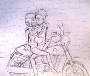 Yuri!!! on Ice - Yuri x Otabek (Sketch) by MollysMiniStuffVPG