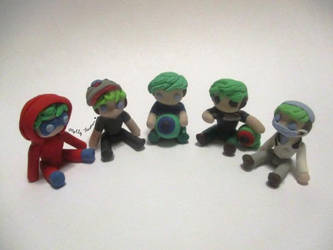 Handmade Jacksepticeye figures (Almost complete) by MollysMiniStuffVPG