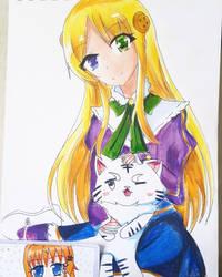 yumina (lsekai wa smartphone to tomo ) by omerdarkss