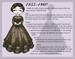 1855-1860 Fashion Card by lady-of-crow
