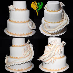 Dragon Wedding Cake TEST by Grincha