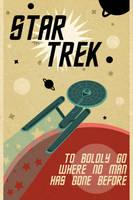 Retro Star Trek Poster by killashandra-ree