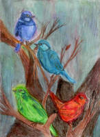 Faerie Wrens by NekoMarik