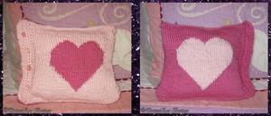 Heart-to-Heart Cushion (free pattern and chart) by NekoMarik