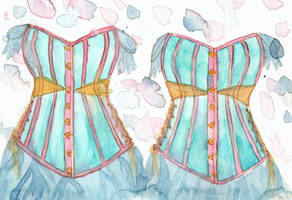 Corset Study II - brushes comparison by NekoMarik
