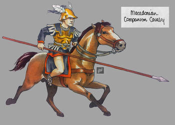 sketchbook: markers: RTW Macedonian Companion Cav by tnoone