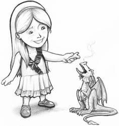 birthday card: pet dragon by tnoone