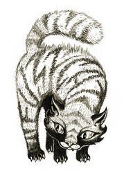 sketchbook: pencils: fuzz cat by tnoone