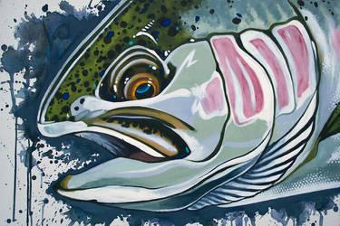 acrylics: Steelhead Trout by tnoone