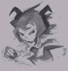 Saky Sketch by Naokarii