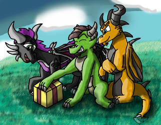 For you, Feuriah and Vheissu (gift) by AtomicNeon