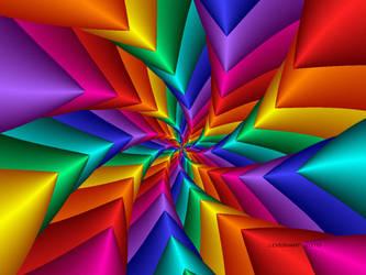 Pinwheel Flower Fractal by julev69