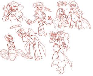 Stream Doodles - 8/7/14 by Aesir1