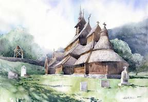 Stavkirke by GreeGW