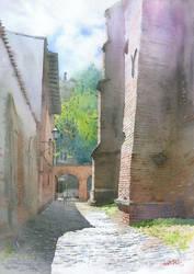 Gdansk The Alley of Zachariasz Zappio by GreeGW