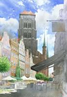 Gdansk Piwna street by GreeGW