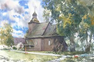 Wooden church in Rychnow by GreeGW