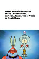 Squidward and Mr. Krabs are Shocked or Scared Meme by Vincent-Rocchio