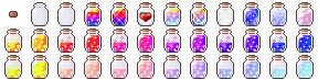 Icons: Jars of Sparkly Things by LunarBerry