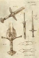 Dol Amroth swords by Merlkir