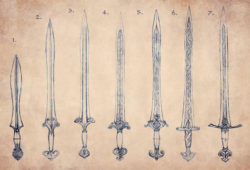 Elven Sword Evolution by Merlkir