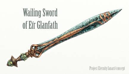 Wailing sword of Eir Glanfath by Merlkir
