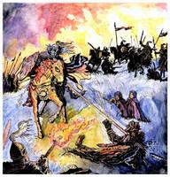 Rohirrim attack by Merlkir