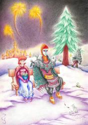 Anju and Zant: Christmas Time by Fenrisfang