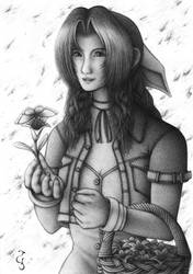 Commission: Flower Girl Aerith by Fenrisfang