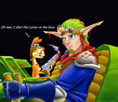 Jak II: Deleted Scene colored by spohniscool
