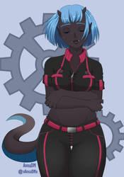 Mechanic girl by AnnaDM