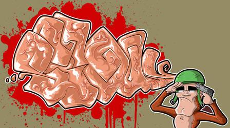Thoughtful Graffiti by sevasuno