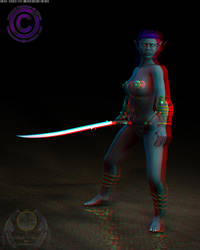 Drow Elf Stereo Anaglyph by artstrider
