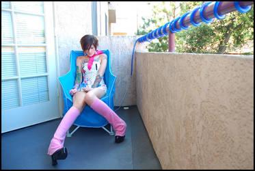 Frustrated Anime Girl by JonnyBalls