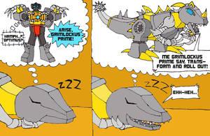 Grimlockus Prime 1 by BB-Shockwave