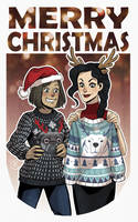 Christmas with Korra and Asami  by 0viper0