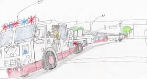 Baphomet Fire Dept Seagrave Truck 3 by Tracksidegorilla1