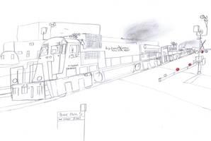 Big Ben Express C36-7ES #1532 by Tracksidegorilla1