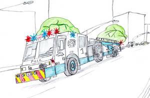 Polt Volunteer Fire Co. Minotaur Hyena II Engine 1 by Tracksidegorilla1