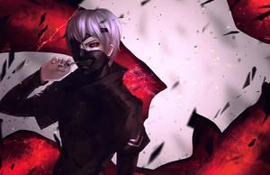 Tokyo Ghoul: Kaneki Ken by GRAVEWEAVER
