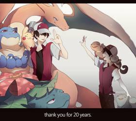 20 Years of Pokemon by GRAVEWEAVER