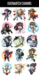 Overwatch Charms - Anime Expo I50 by GRAVEWEAVER