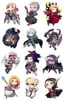World of Warcraft CHIBIS! by GRAVEWEAVER