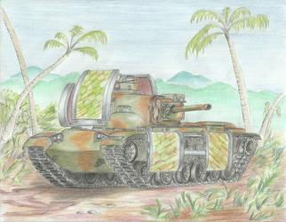 Red Alert 2 M60A2M Mirage (1/5) by Medjoe