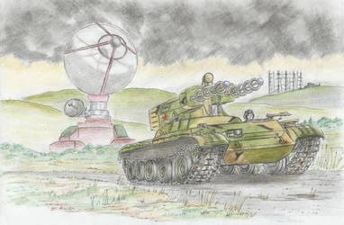 Red Alert 2 T-55E Tesla Tank (5/5) by Medjoe