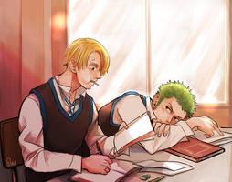 ZoSan in the class by Yuushishio
